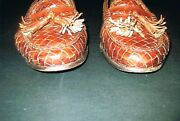 Very Expensive Bragano Cole Haan Italian Chocolate Brown Tassle Leather Shoes 9w