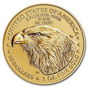 2021 Gold 1 Oz Gold American Eagle 50 Us Mint Gold Eagle Type 2 Coin
