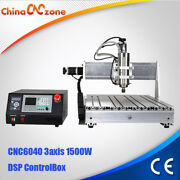 Cnc 6040 3axis 1500w Router Desktop Engraving Drilling Milling Aluminum Machine