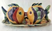 Kissing Fish Salt And Pepper Shakers On Plate Tabletops Lifestyles Under The Sea