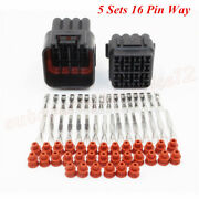 5 Sets Car 16 Pin Way Sealed Waterproof Electrical Wire Auto Connector Plug Kit