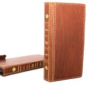 Genuine Real Leather Case For Iphone 8 Plus Cards Cover Bible Luxury Wallet Book
