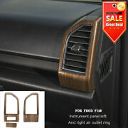 Wood Grain Dashboard Side Air Vent Outlet Cover Trim For Ford F150 2015-2019 2pc