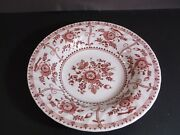 Johnson Brothers Indies Pink Earthenware 8 1/2 Soup Bowl Dish Micro Freezer Saf