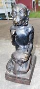Genuine Antique Monkey With Coconut Cast Iron Mechanical Bank