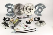 1964-73 Ford Mustang Disc Brake Kit Drilled/ Slotted Rotors And Adjustable Valve