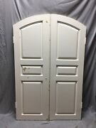 Antique Pair Arched Dome Top Wood Doors 20x61 Old Vintage 65-19c