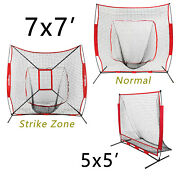 7and039andtimes7and039 5and039x5and039 Baseball And Softball Practice Net Training Aids W/carry Bag Portable
