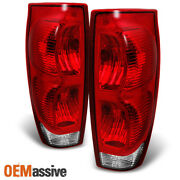 Fit 2002-2006 Chevy Avalanche Pickup Red Clear Taillights Replacement