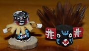 Awesome Black Ogre Micro Kachina With Mask/anne Largo/free Shipping