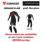 Dainese D Air Misano Airbag Perforated Race Suit Black/white Size 60 Eu