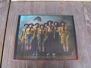 Jan Saudek Ever Ready The Boy Scouts, Rare Signed Hand Coloured Photograph