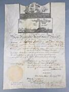 1821 Letter Safe Passage Signed By President James Monroe John Quincy Adams