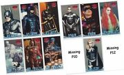 Batman And Robin Movie - 10/12 Card Profiles Part Chase Set - Missing P10 P12