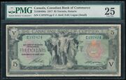 1917 Canada, Canadian Bank Of Commerce 5 Note Aird/logan Small Sigs. Pmg Vf25