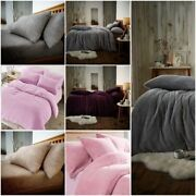 Teddy Bear Bedding Duvet Set Fitted Sheet Extra Furry Warm Cosy Fluffy 4.0 Tog