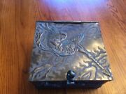 Antique American Silver-plated Box Circa 1885 Derby Silver Co. Japanese Style
