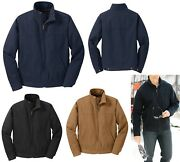 Menand039s Heavyweight Duck Cloth Flannel Lined Full Zip Jacket Pockets Xs-6xl
