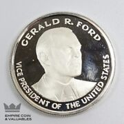 Gerald Ford Vice President Proof Medallion 999 Fine Silver Cb1