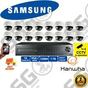 Samsung 16 Dome Cctv Cameras Outdoor Night Vision Security Kit Hd Recorder Home