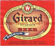 1940s New Jersey Girard Beer Weston And Co. Stores 12oz Irtp Label Tavern Trove