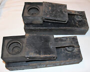 Rare Vintage Antique Pair Of 2 Railroad Track Switch Heaters