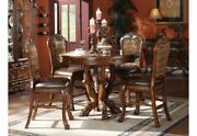Dresden Antique Style 5 Piece 48wood Counter Height Dining Set Cherry Oak Brown