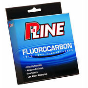 P-line 100 Pure Fluorocarbon Clear Fishing Line 250 Yards - Select Lb. Test