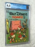 Walt Disney Comics And Stories 115 Cgc 4.0 White Pages And Free Reader Copy