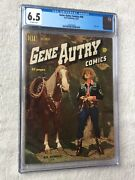 Gene Autry Comics 44 Cgc 6.5 Off-white Pgs Dell Oct 1950 Photocovers Front/rear