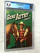 Gene Autry Comics 40 Cgc 4.5 Dell Jun 1950 Off-whit Pgs Photo Covers Front/rear