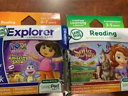 2 Leapfrog Leappad Dora's Amazing Show And Sofia The First Works With All Leappad