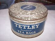 Vintage Tetley Hundreds Tea Bags Tin Great Collectible From The 50's