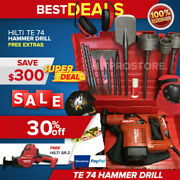 Hilti Te 74 Hammer Drill, Preowned, Free Hilti Reciprocating Saw, Bits And Extras