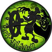 2017 Nieu 2 Steamboat Willie Mickey Mouse Halloween Green 1 Oz .999 Coin