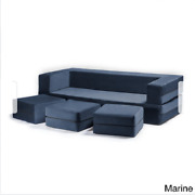 California King Sleeper Couch Sofa Ottomans Convertible Bed Bench Modern Marine