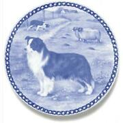 Border Collie - Dog Plate Made In Denmark From The Finest European Porcelain