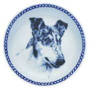 Collie - Smooth Blue Merle - Dog Plate Made In Denmark From The Finest European