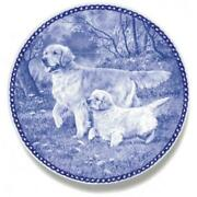 Learning The Trade-golden Retriever - Limited Edition Dog Plate Made In Denmark