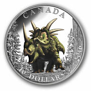 Dinosaurs Spiked Lizard 10 2016 Pure Silver Proof Colour Coin Canada