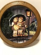"""Two Mj Hummel Danbury Mint Plate Apple Tree Boy And Girl And """"stormy Apple"""""""