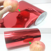 Useful Red Glossy Mirror Chrome Vinyl Wrap Tape Sticker For Car Phone Beauty Ab