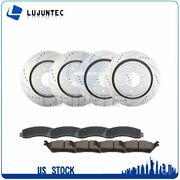 Front Rear Ceramic Pads And Rotors Brake For 2012 2013 2014 2015-2017 Ford F-150