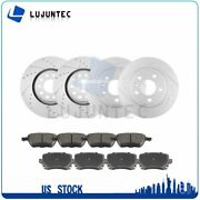 Front Rear Ceramic Pads And Rotors Brake For Audi A4 2007-2008 Audi A4 Quattro