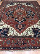 8and0399 X 12and039 New Indian Ser Api Oriental Rug - Hand Made - 100 Wool
