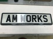 Aston Martin Works Number Plate Plinth/holder With Key - Single