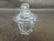 Baccarat France Crystal Container 4.5 Tall 3.5 Wide Candy Dish M5