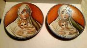 Veneto Flair, V. Tiziano Porcelain Plate Mother And Child 1973 Lot Of 2