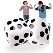 Novelty Place 20 Jumbo Inflatable Dice 2 Pcs 20 Inch White And Black Giant Dice