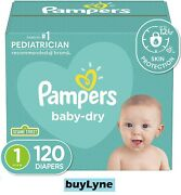 Pampers Baby Dry Diapers - Size 1 120ct Buylyne